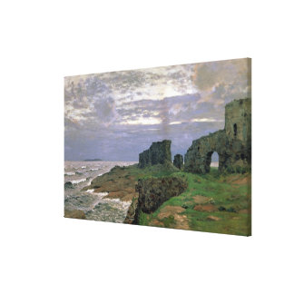 Remains of Bygone Days, Twilight, Finland, 1897 Canvas Print