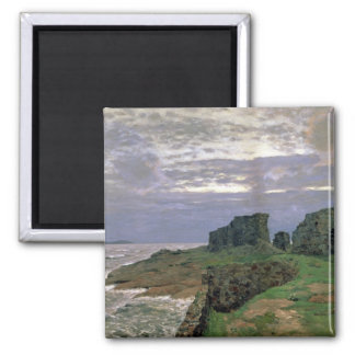 Remains of Bygone Days, Twilight, Finland, 1897 Square Magnet