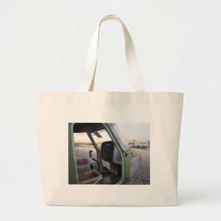 Remains of cold war helicopter. large tote bag