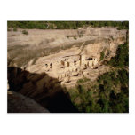 Remains of Pueblo Indian cliff dwellings Post Card