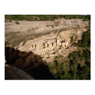 Remains of Pueblo Indian cliff dwellings Postcard