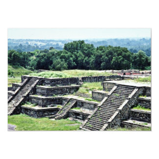 Remains Of Steps At Teotihuacan Ruins 13 Cm X 18 Cm Invitation Card