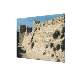 Remains of the fortress walls, built c.37-31 BC Canvas Print