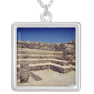 Remains of the fortress walls, c.37-31 BC Silver Plated Necklace