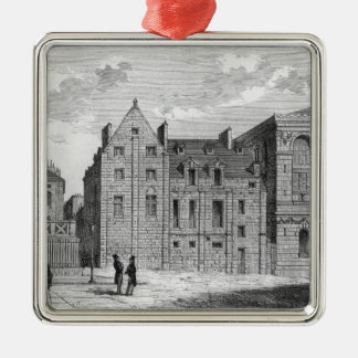 Remains of the Montaigu College, c.1850 Silver-Colored Square Decoration