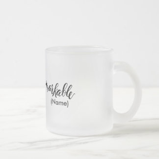 Remarkable Custom Frosted Glass Mug