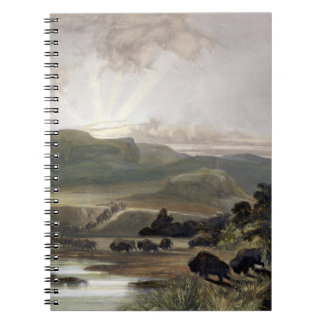 Remarkable Hills on the Upper Missouri, plate 34 f Spiral Notebook