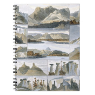 Remarkable Hills on the Upper Missouri, plate 35 f Spiral Notebook