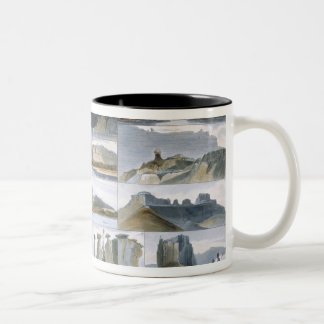 Remarkable Hills on the Upper Missouri, plate 35 f Two-Tone Coffee Mug