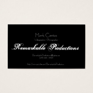 Remarkable Productions Business Card