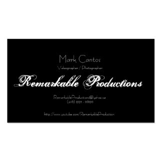 Remarkable Productions Pack Of Standard Business Cards
