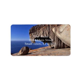 Remarkable Rocks, Kangaroo Island,South Australia Address Label