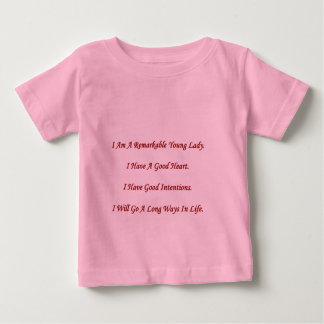 Remarkable Young Lady Baby Shirt
