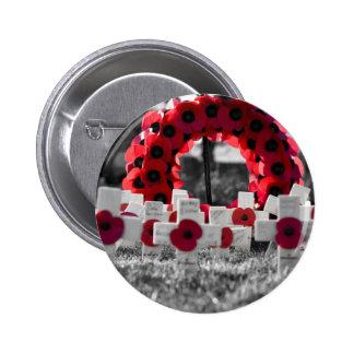 remberance day 6 cm round badge