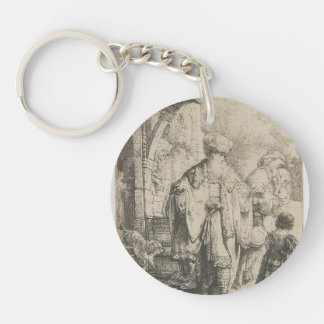 Rembrandt: Abraham Dismissing Hagar Acrylic Key Chains
