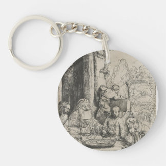 Rembrandt: Abraham Entertaining the Angels Acrylic Keychain