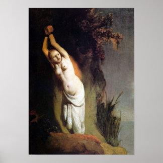 Rembrandt - Andromeda on the rocks Poster