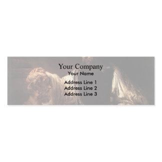 Rembrandt- Aristotle with a Bust of Homer Double-Sided Mini Business Cards (Pack Of 20)