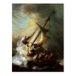Rembrandt Art Painting Christ in the Storm Postcard
