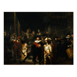 Rembrandt Art Painting The Nightwatch Postcard
