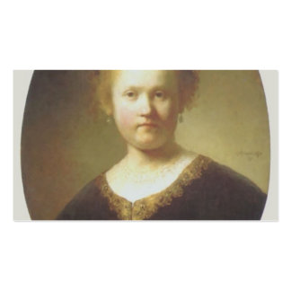 Rembrandt- Bust of a Young Woman Double-Sided Standard Business Cards (Pack Of 100)