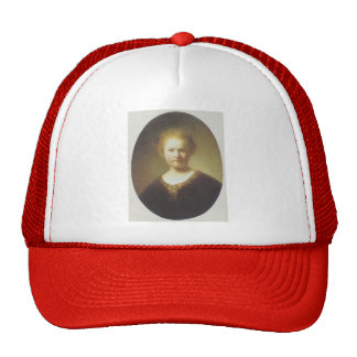 Rembrandt- Bust of a Young Woman Mesh Hat