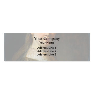 Rembrandt- Bust of Young Woman Double-Sided Mini Business Cards (Pack Of 20)