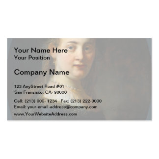 Rembrandt- Bust of Young Woman Double-Sided Standard Business Cards (Pack Of 100)