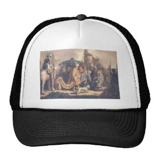 Rembrandt-David Offering Goliath Head to King Saul Mesh Hat