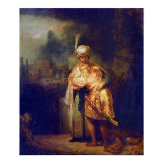 Rembrandt - Davids farewell with Jonathan Poster