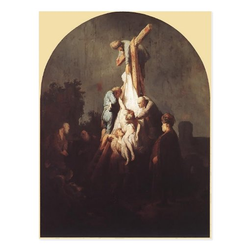 Rembrandt- Deposition from the Cross Postcard