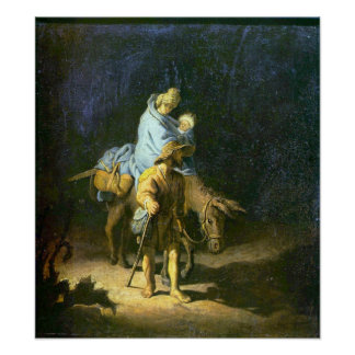 Rembrandt - Flight into Egypt Poster