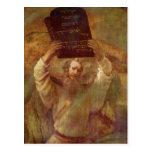 Rembrandt Harmensz. van Rijn Moses mit den Gesetze Post Card