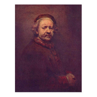 Rembrandt Harmensz. van Rijn Selbstportr?t 2. Drit Post Card