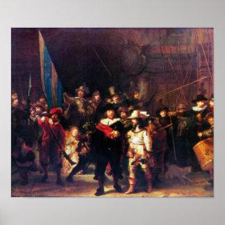 Rembrandt Harmenszoon van Rijn - Night Watch Poster