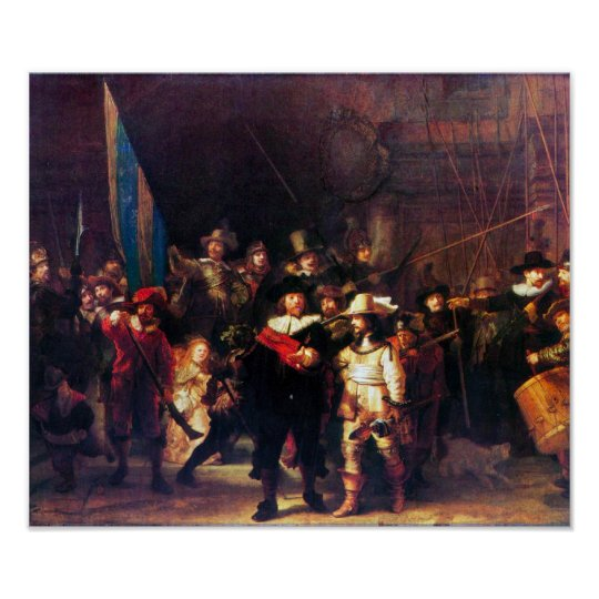 Rembrandt Harmenszoon van Rijn - Night Watch Poster