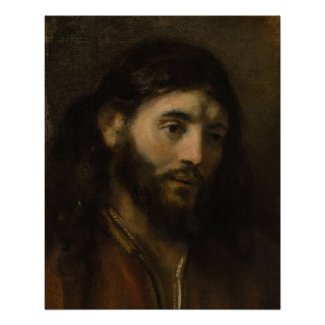 Rembrandt Head of Christ CC0927 Jesus portrait Poster