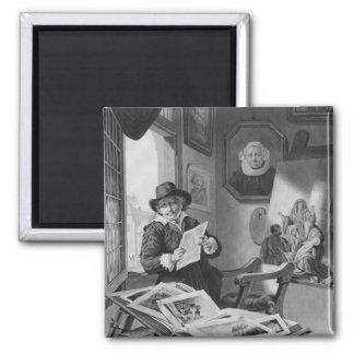 Rembrandt in his studio magnet