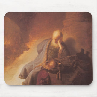 Rembrandt-Mourning over Destruction of Jerusalem Mouse Pad