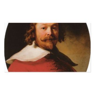 Rembrandt- Portrait of a bearded man, bust length Business Card Templates