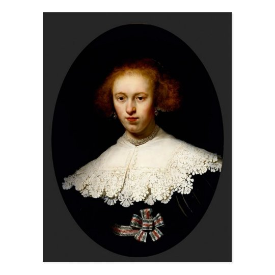 Rembrandt- Portrait of a Young Woman Postcard