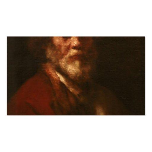 Rembrandt:Portrait of man,workshop of Rembrandt Business Card