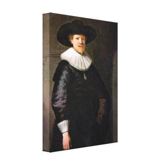 Rembrandt - Portrait of the poet Jan Hermansz Krul Stretched Canvas Print