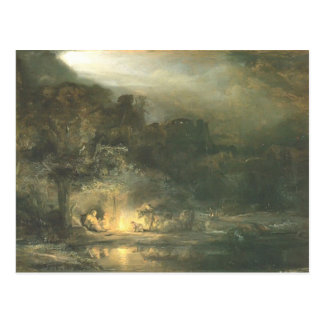 Rembrandt- Rest on the Flight to Egypt Postcard