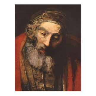 Rembrandt- Return of the Prodigal Son(fragment) Postcard