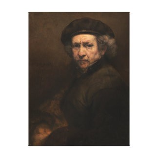 "Rembrandt Self-Portrait 15x20"" poster Canvas Print"