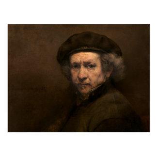 Rembrandt Self Portrait Vintage Fine Art Painting Postcard