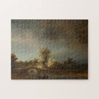 Rembrandt Stone bridge Jigsaw Puzzle