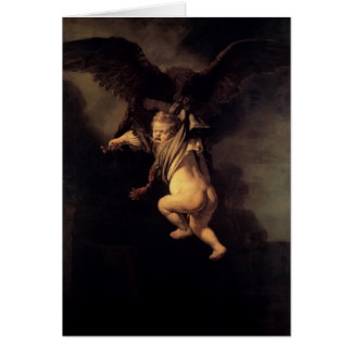 Rembrandt- The Abduction of Ganymede Card