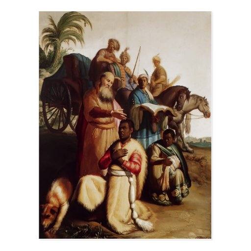 Rembrandt- The Baptism Of The Eunuch Postcards